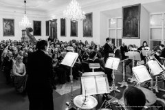 Das Johann Strauss Orchester Salzburg während eines Konzerts in der Residenz.
