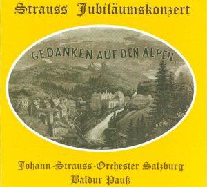 Tonträger CD Cover - Gedanken auf den Alpen