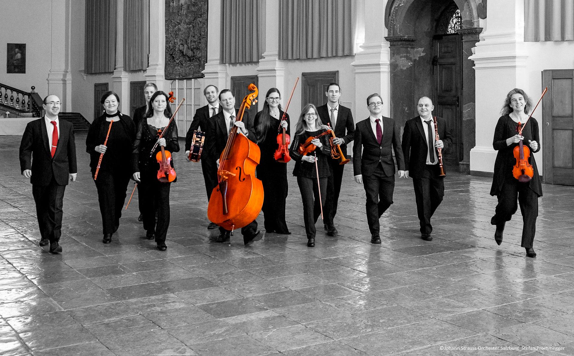 Das Johann Strauss Orchester Salzburg in der alten fürsterzbischöfliche Residenz in Salzburg